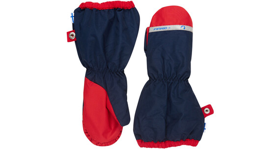 Finkid Pakkanen Gloves Kids navy/red